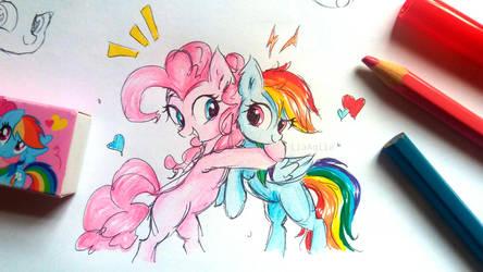 The Sketch Of PinkieDash! by LiaAqila
