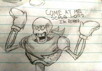 Another Papyrus doodle by Bloody-Uragiri