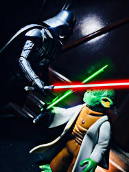 Darth Vader vs Master Yoda by Alucard4
