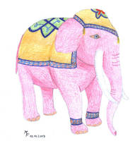 Elephant in pink by MichaFire