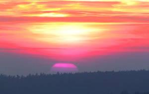 Pink Sunset by MichaFire