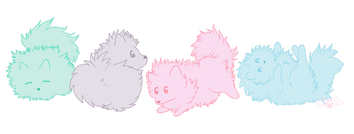 +Cotton Candy Poms+ by angelwolf