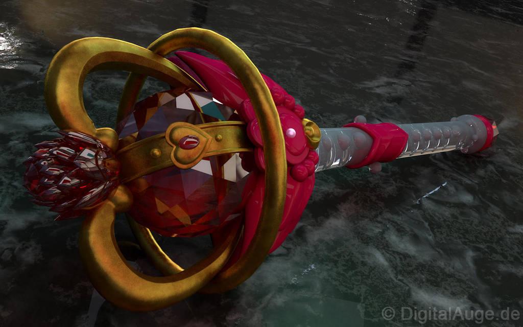 Sailor Moon - Moon Tier 3D by digitalAuge