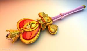 Sailor Moon Spiral Heart Wand, Mondzepter 3D by digitalAuge