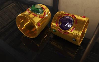 Sailor Galaxia Bracelets / Armreifen 3D 02 by digitalAuge