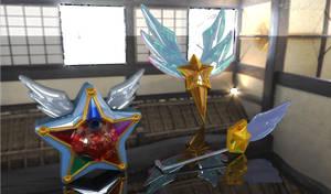 Sailor Starlights Yell, Headset, Brooch? 3D #2 by digitalAuge