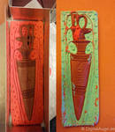 Egyptian artifacts Pesesh-kef wands Replic #2 by digitalAuge