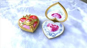 Sailor Moon Heart Compact Brooch open #2 by digitalAuge