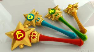 Sailor Moon - classic Star Power Sticks 3D by digitalAuge