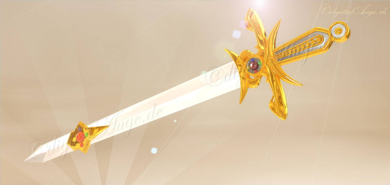 Sword of silver crystal - Manga 3D by digitalAuge