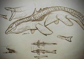 Hypo-mosasaurus by Gustavolamaral