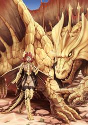 Dnd - Brass dragon by Barbariank