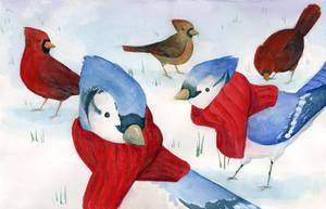 Winter Birds by hanerethund