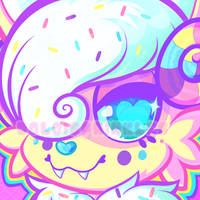Icon: Birthday Cake Ice Cream Sweet Monsterbun by Dolcisprinkles