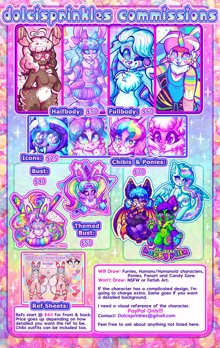 2018 commission sheet  closed by dolcisprinkles on deviantart