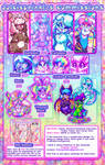 2018 Commission Sheet: CLOSED by Dolcisprinkles