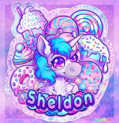 COM: Themed Badge - Sheldon by Dolcisprinkles