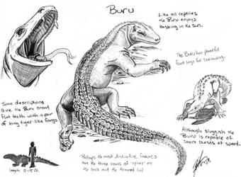 Criptid Fieldbook: Buru by painted-wolfs-den