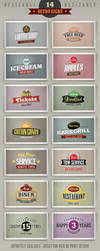 14 retro or vintage style signs (banners) by hugoo13