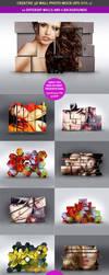 3D Wall Photo Mock-Ups 1 by hugoo13