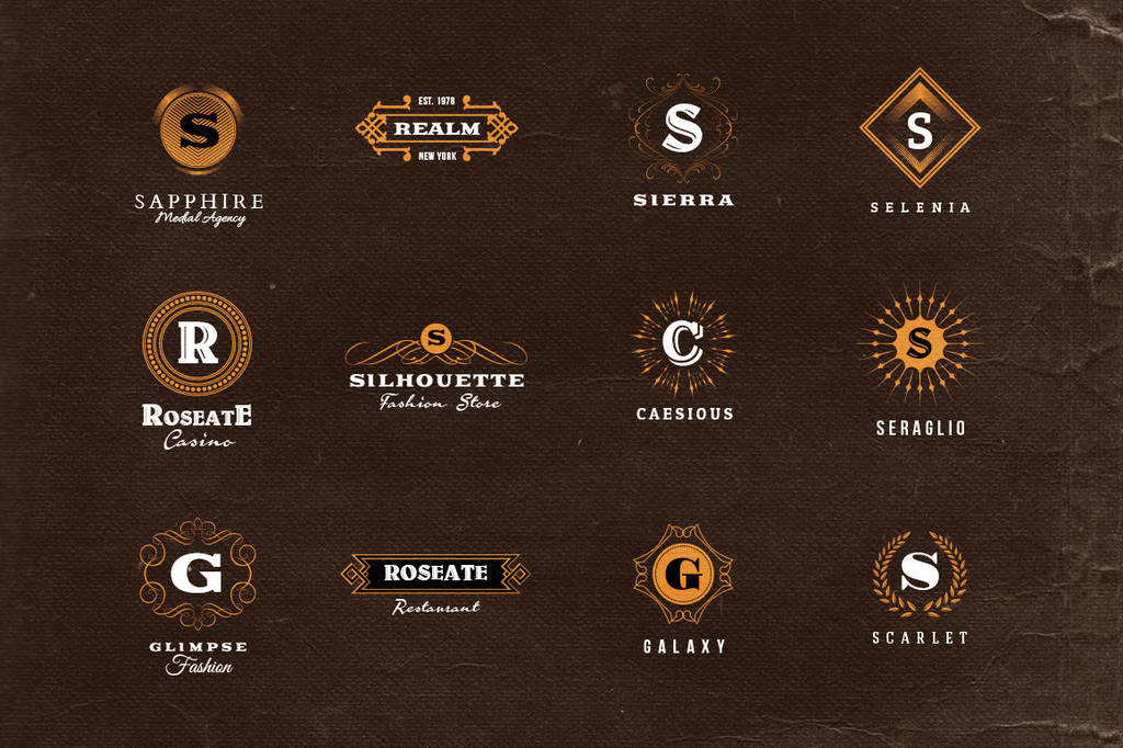 Simple Retro Logo Templates v.1 by hugoo13