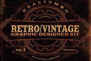Retro/Vintage Graphic Designer Kit v.1 by hugoo13