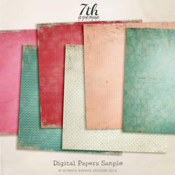 6 Free Digtial Papers/Textures by hugoo13