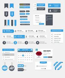 Free Clean UI Kit by hugoo13