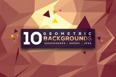 10 Free Geometric Backgrounds by hugoo13