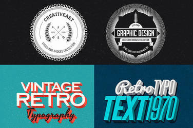 Free Retro/Vintage Design Bundle by hugoo13