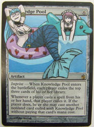 Knowledge Pool alter art (Aquarius and Virgo) by Abystoma