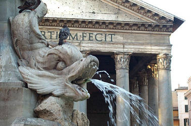 pantheon - fountain by lumieresnordiques