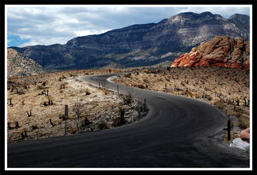 Winding mountain road by magrcon