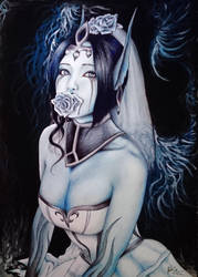 Frozen Heart ( Ghost Bride Morgana ) by El3c7r0N