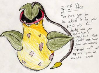 RIP Pear by fwooshfrog