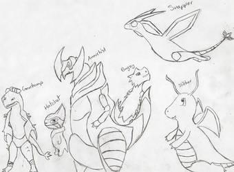 The Dragon Team by fwooshfrog