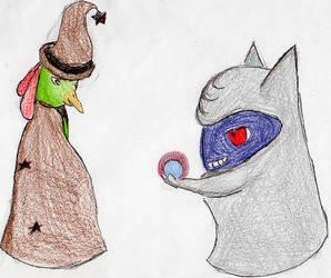 Classy Pokemon: Witch Papaya and Diviner Plum by fwooshfrog