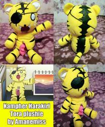 Kampher: Harakiri Tiger plushie by AmaneMiss