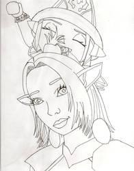 Elisen and Kiela Ink by CGChewie
