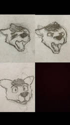 Some emotions and new eye style  by ThatOneDude6901