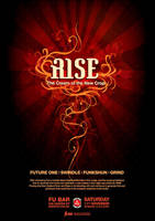 'Rise' Drum'n'Bass flyer by Crittz