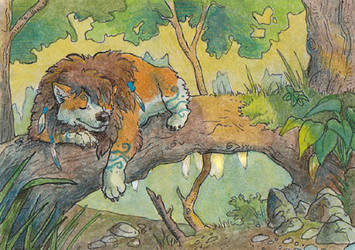 ACEO - Moonsongwolf by Wolfyu