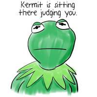 Kermit is judging you by midgear