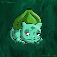 Pokemon Challenge 001-Bulbasaur by midgear
