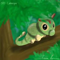 Pokemon Challenge 010-Caterpie by midgear