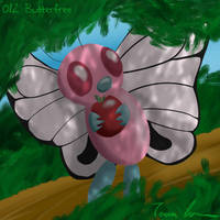 Pokemon Challenge 012-butterfree by midgear