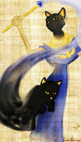 Bastet and cat concept 01 by midgear