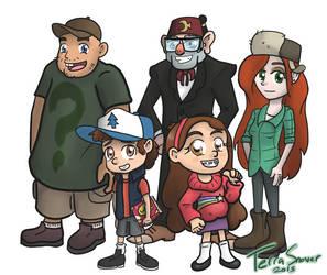 Gravity Falls Chibi by midgear