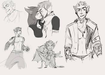 [Mech] Jacmo Doodles by PrincePeachu