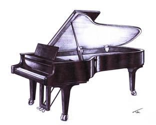 Piano Grand by IkazuDasWhale
